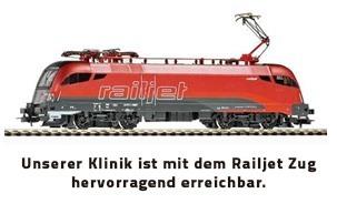 Haartransplantation mit Railjet Zug erreichbar
